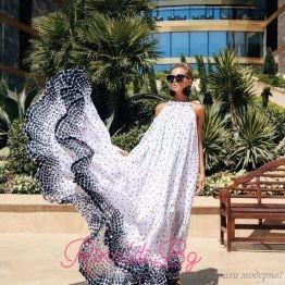 Дамска плажна рокля Black and White