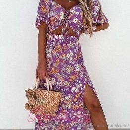Дамска дълга рокля Флауърс