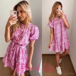 Дамска къса рокля Пинки