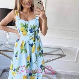 Дамска лятна рокля Лимони