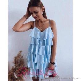 Дамска лятна рокля на волани
