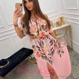 Дамска лятна рокля с цепка и флорални мотиви