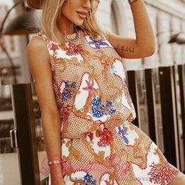 Дамска рокля с морски елементи