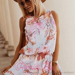Дамска цветна лятна рокля Мултиколор
