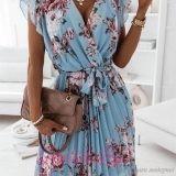 Дамска лятна рокля с плисирани елементи