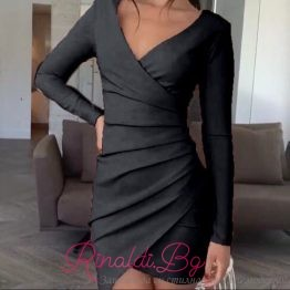 Дамска рокля с набрани елементи Сесилия