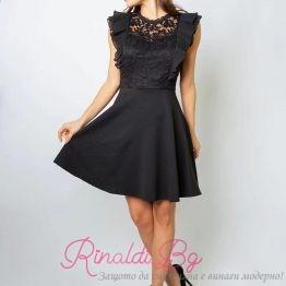 Уникална дамска рокля с къдрици